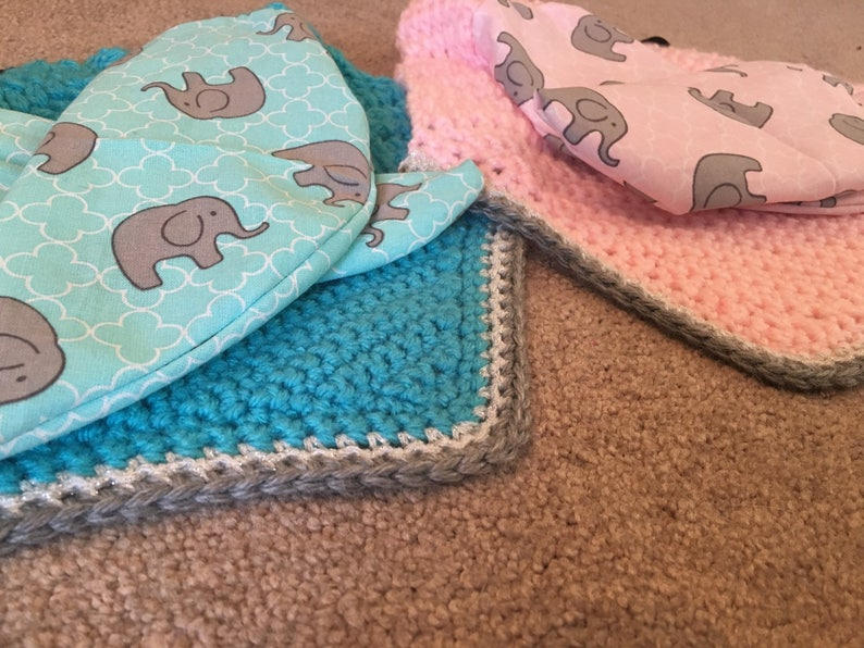 Pink and Light Blue Elephant Pony or Small Horse Fly Bonnets