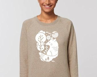 WHITE WOLF Sweater Girls Sweatshirt Longsleeve Wolf
