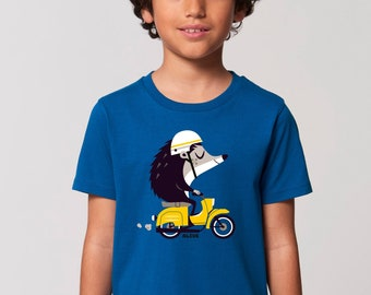 Kinder T-Shirt Igel Vespa T-Shirt