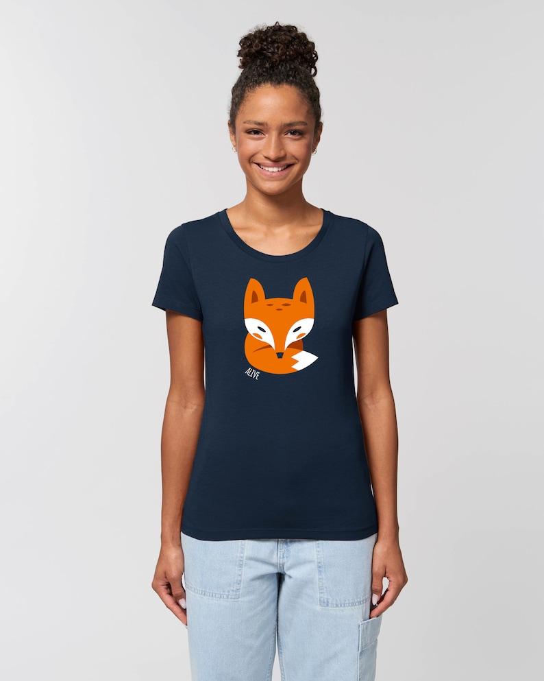 LITTLE FOX II T-Shirt Girls Frauen fuchs shirt fox tee cute image 0