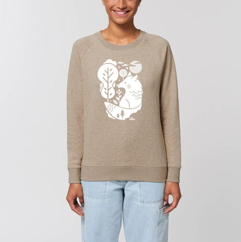 WHITE WOLF Sweater Girls Sweatshirt Longsleeve Wolf image 0