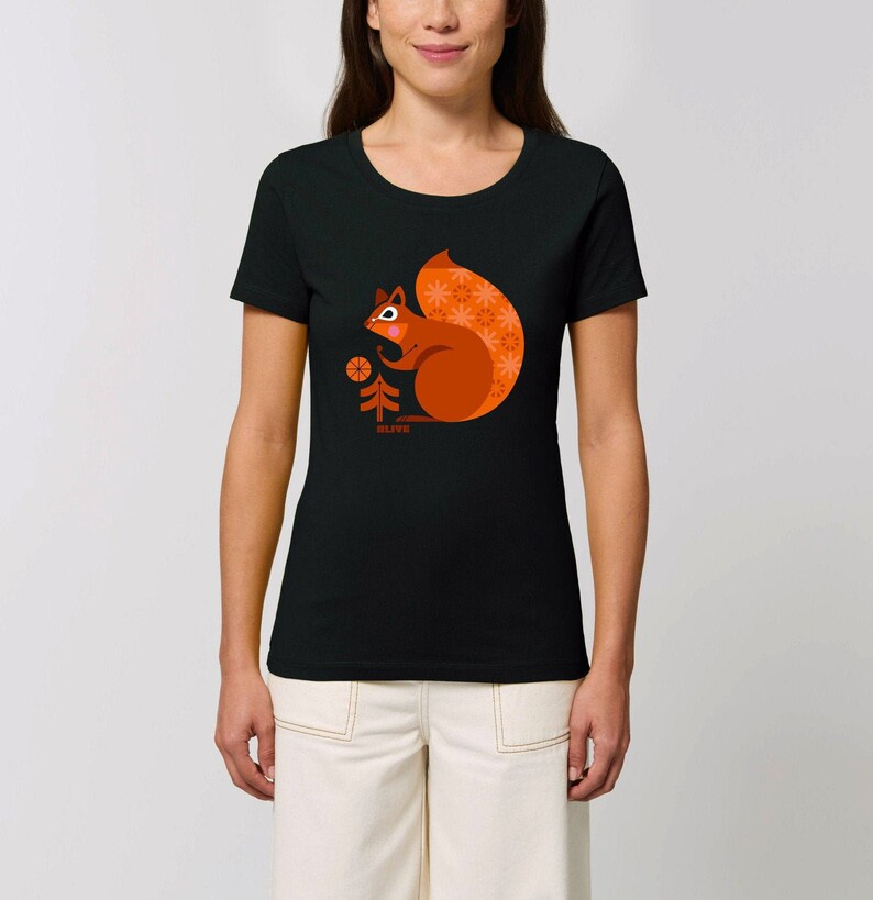THE SQUIRREL T-Shirt Girls Eichhörnchen shirt Squirrel tee image 0