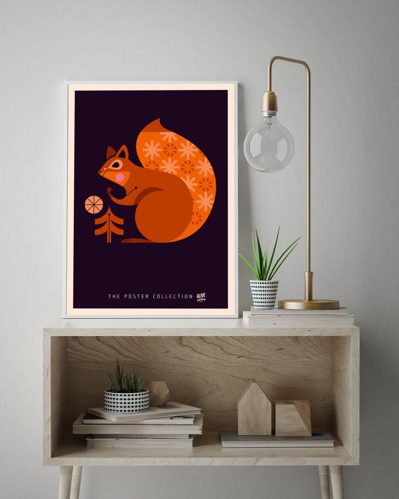 THE SQUIRREL Kunstdruck Print Poster Fine Art DIN A2 42x594 image 0