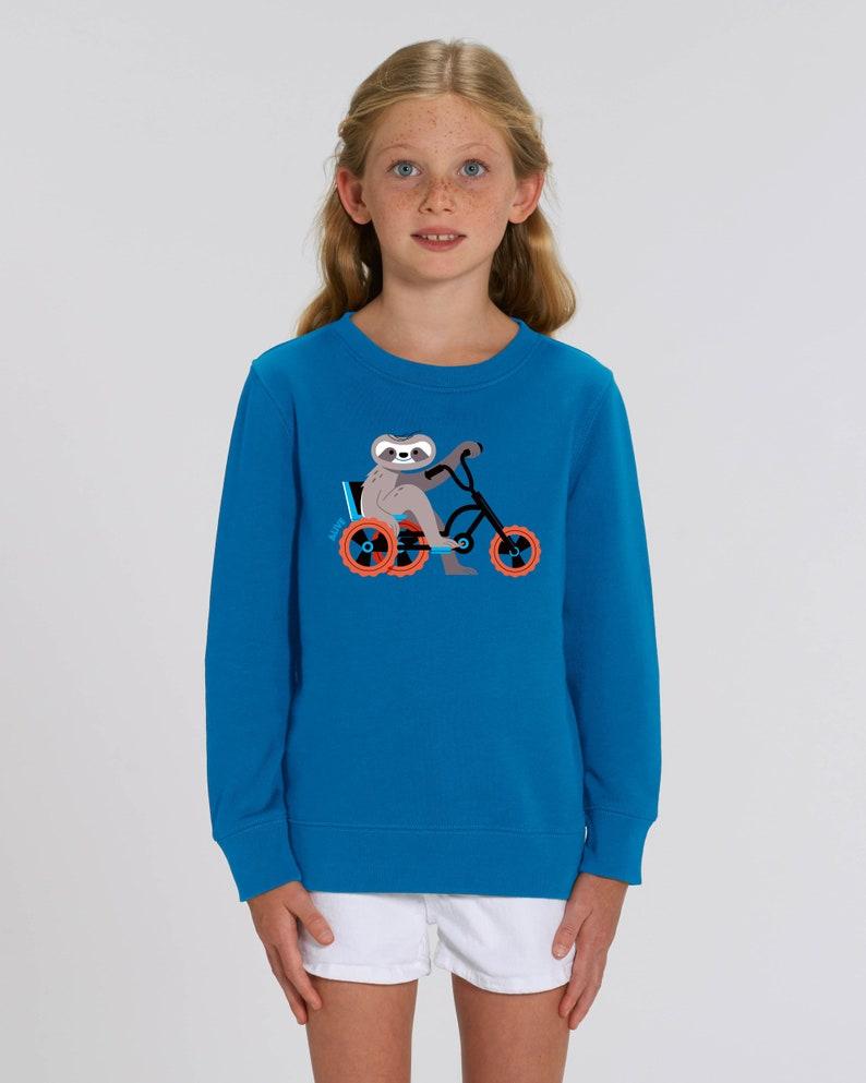 FAULTIER CRUISER Longsleeve sloth Sweatshirt bike Kids Mädchen image 0