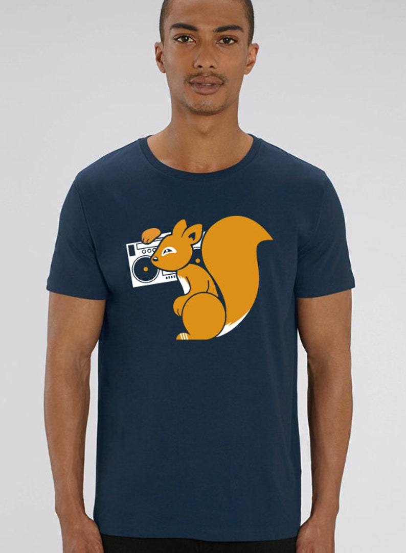 ROCKIN SQUIRREL T-Shirt Boys Navy image 0