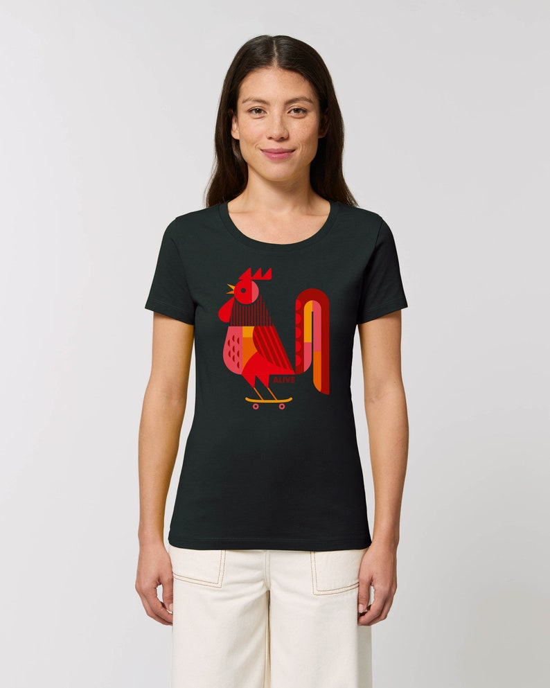 ROLLIN ROOSTER T-Shirt Girls image 0