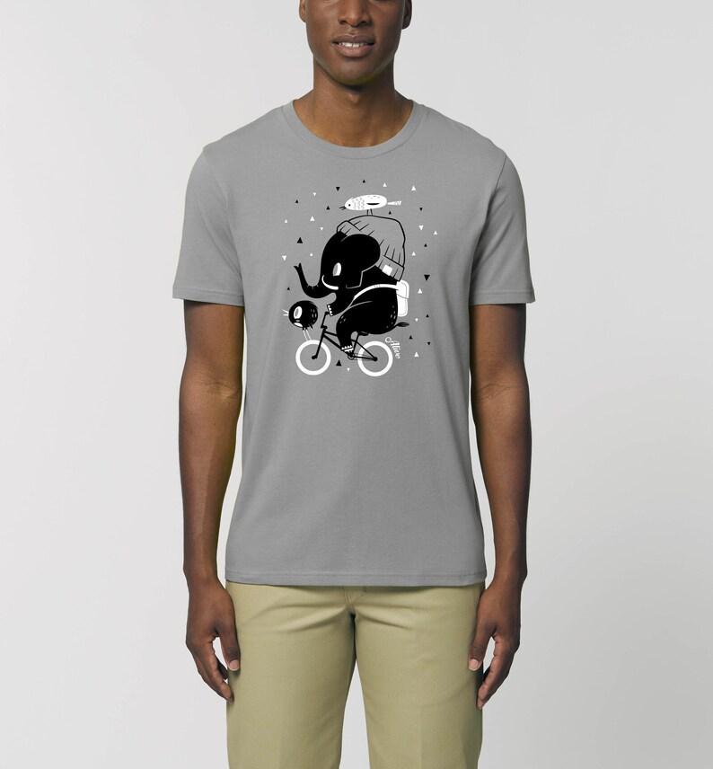 Fahrrad Elefant T-Shirt Männer Jungs Bike Shirt image 0