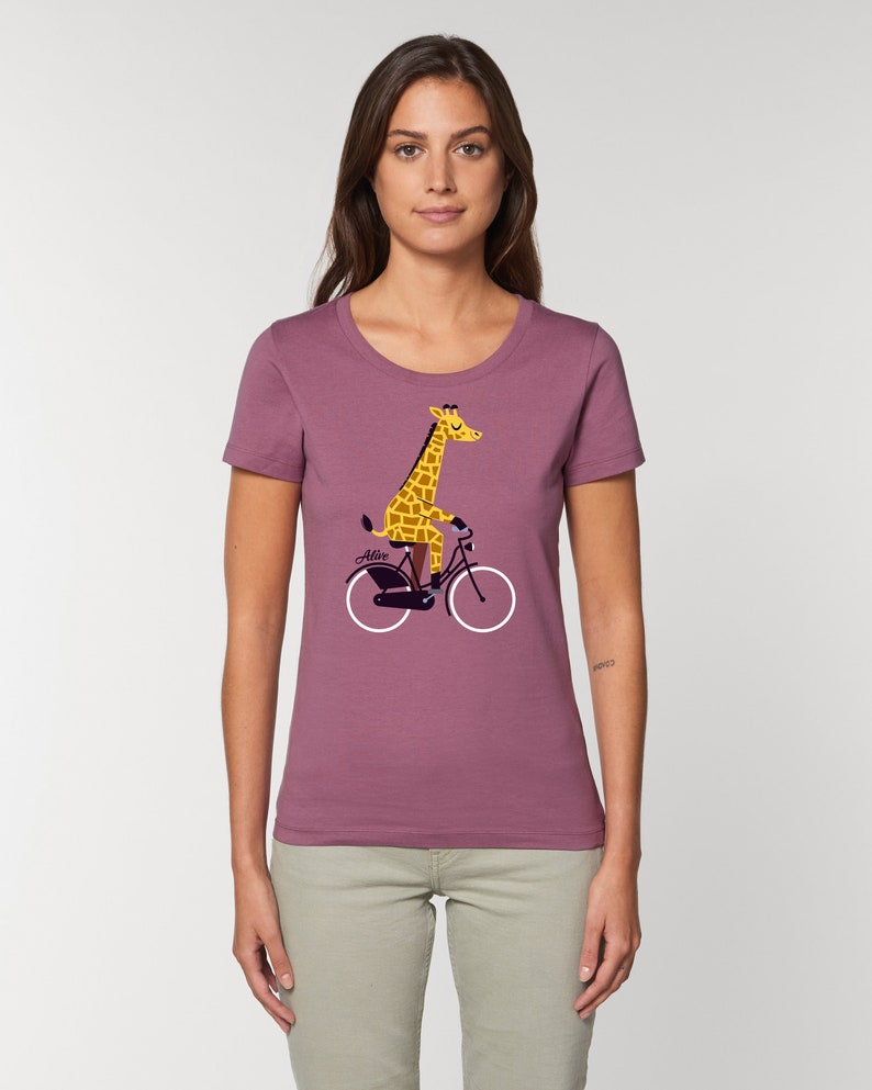 BIKING GIRAFFE T-Shirt Girls image 0
