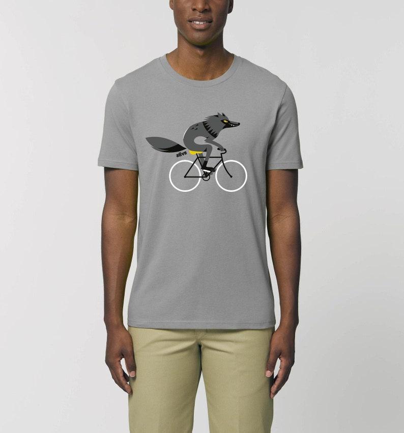 T-Shirt Männer Wolf Fahrrad T-Shirt Wolf Shirt image 0