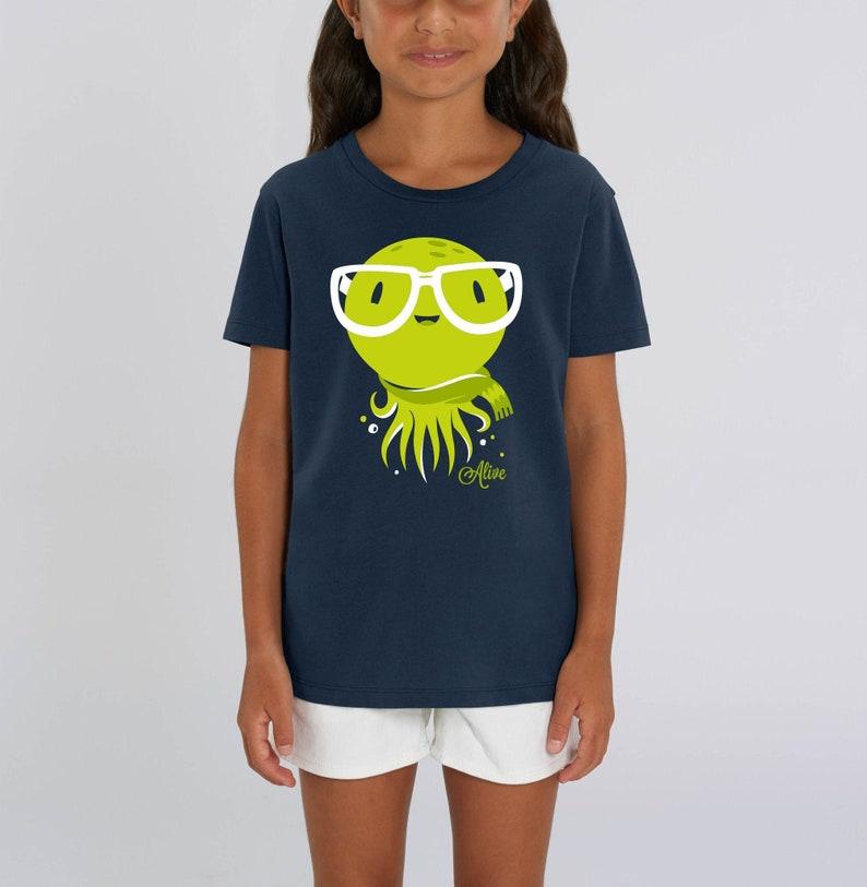 T-Shirt Kinder Krake KUNO KRAKEN  girls boys tee cute tee image 0