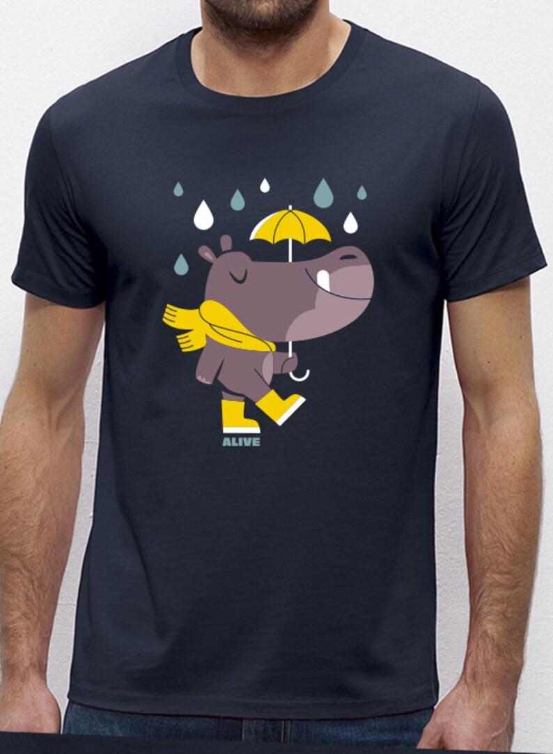 HIPPO in the RAIN T-Shirt Boys Navy image 0