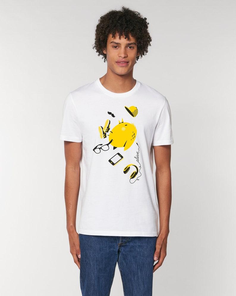 HIPSTER BIRD T-Shirt Boys Vogel Kopfhörer image 0