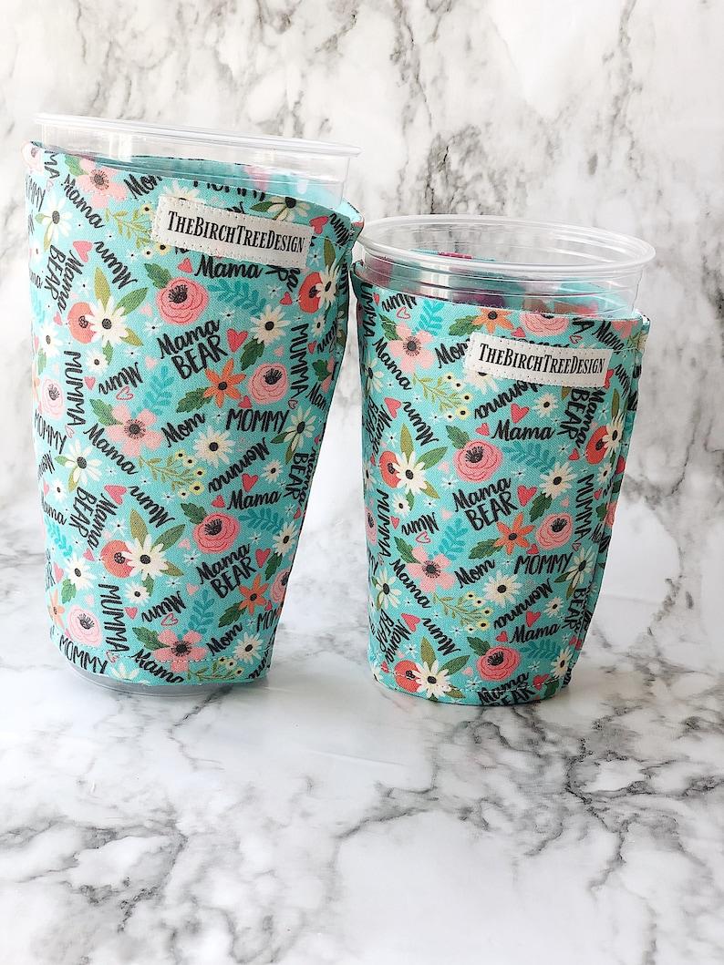 Mom Momma insulated fabric iced coffee drink sleeve / image 0