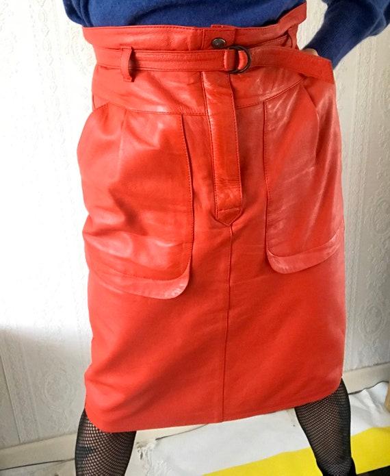 Stunning Vintage femme fatale Chilli Red High Wais