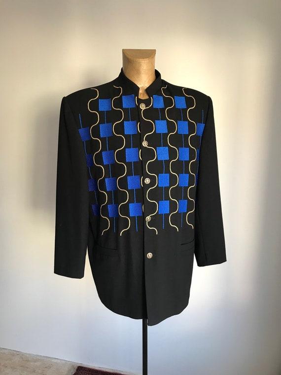 Vintage Unisex Grandios Nehru Jacket/ Blazer/ Top/