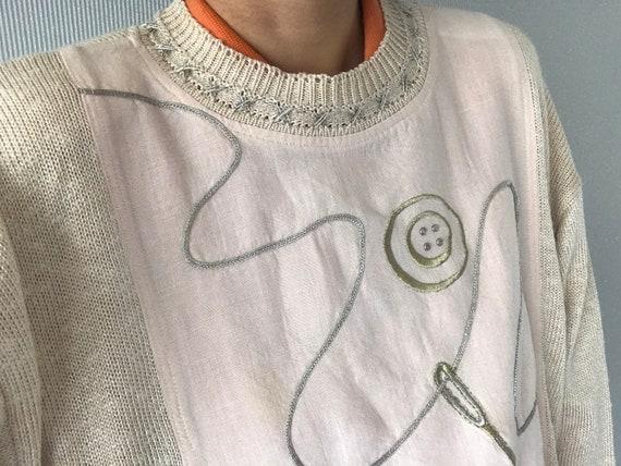 Vintage embroidered cotton blend Half Sleeve Shirt
