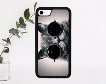 0f5cea30395c Cute cat with glasses - phone case for iPhone 4 4s 5 5s 5c 6 6s 6+ 6s+ 7 7+ 8 8+ X  - case for iPhone cool funny cat sun glasses iPhone case