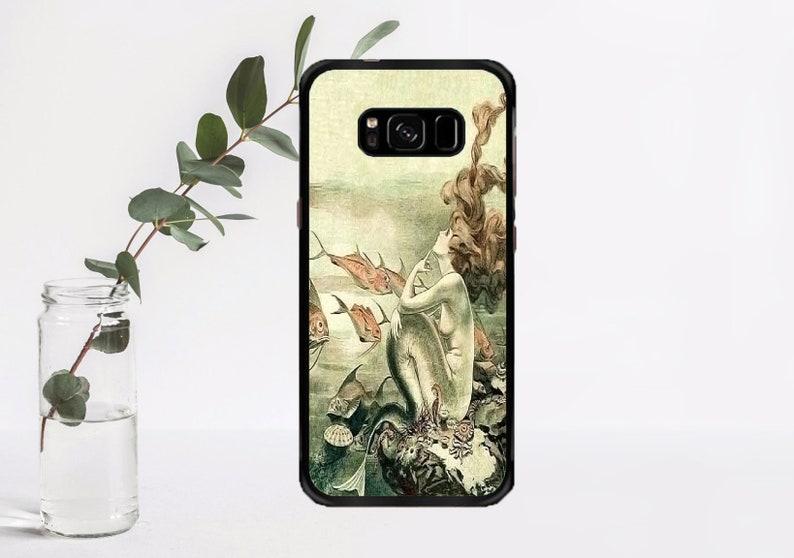098d9003fef15d Vintage sirène affiche art Ocean world sous housse de téléphone de l'eau -  cas de téléphone pour Samsung Galaxy S3/S4/S5/S6/S7/S7 bord/S8/S8 / ...