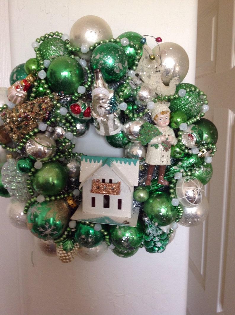 Vintage Ornament Wreath