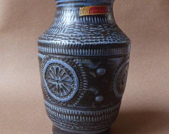 Bay Contura vintage vase blue dark grey 545-25 West-Germany