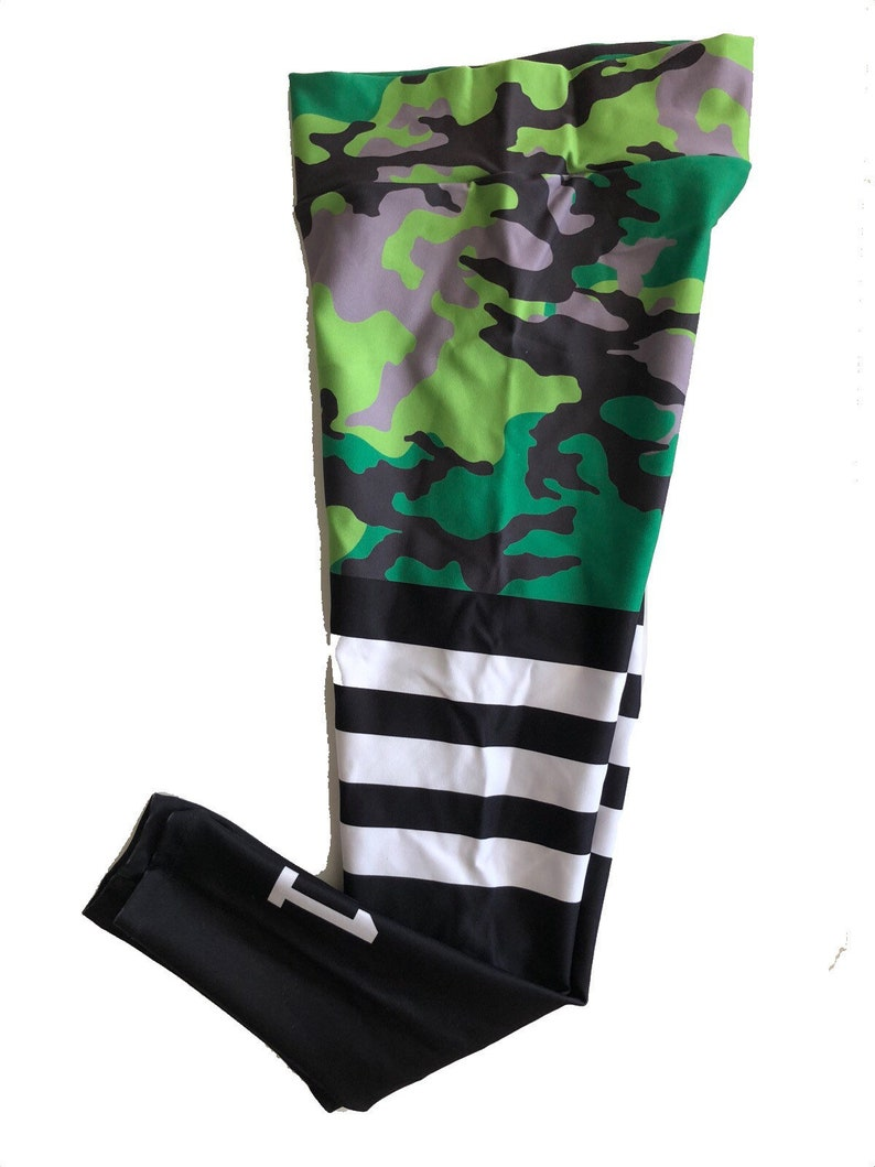 02d7508456b4c Camouflage Leggings knee high Sock leggings high waisted Women | Etsy