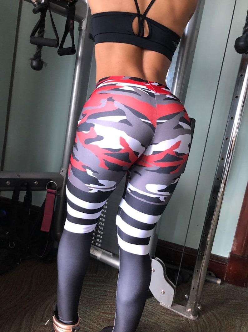 dcc14f6be9658 Camouflage Leggings Sock leggings high waisted Women | Etsy