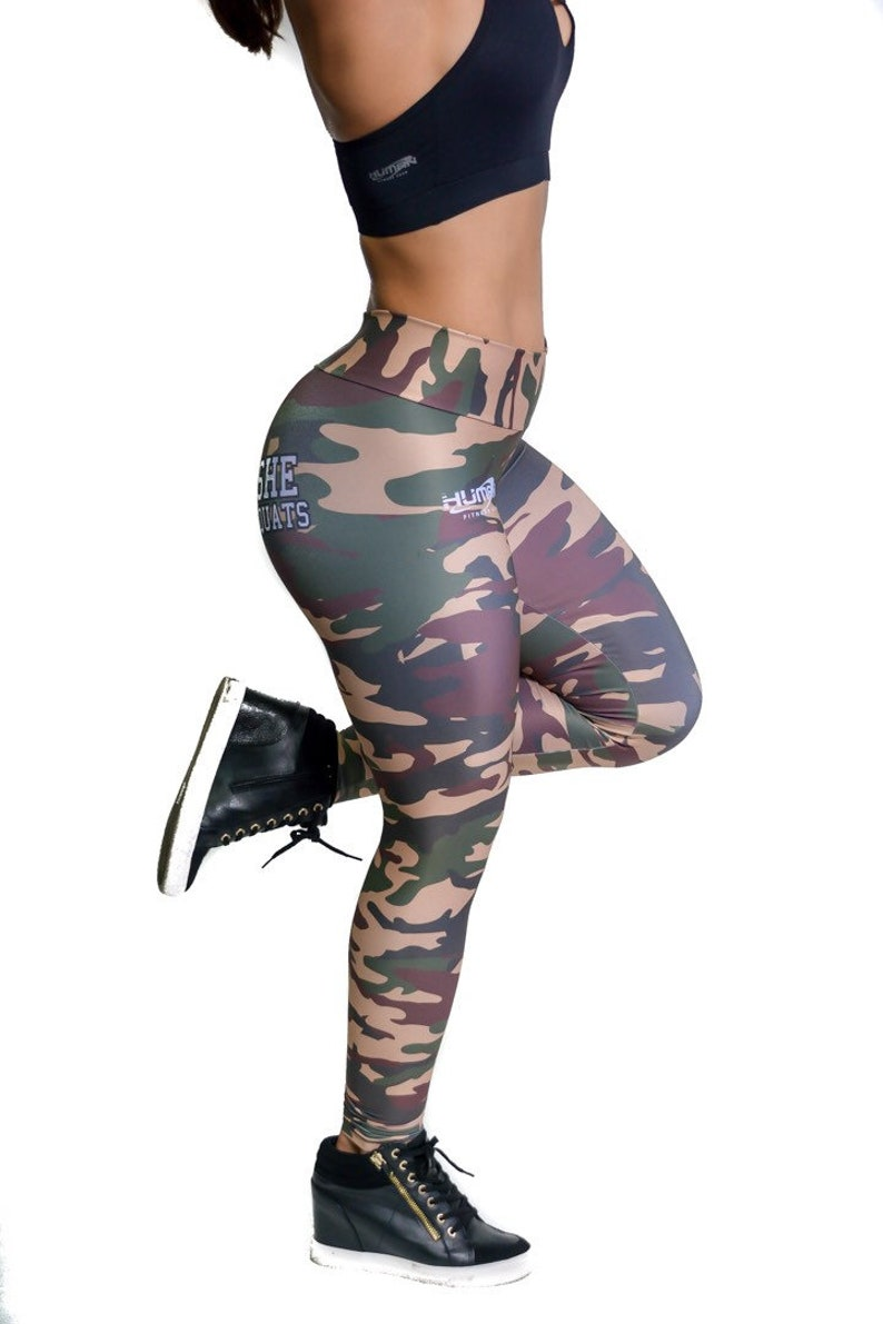 a174112a1b0932 Small Camouflage Women Leggings Booty Leggings Activewear | Etsy