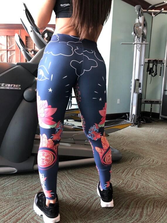 S-XL Vintage Florida State America Flag Yoga Pants Performance Activewear Workout Leggings Sports Pants Size