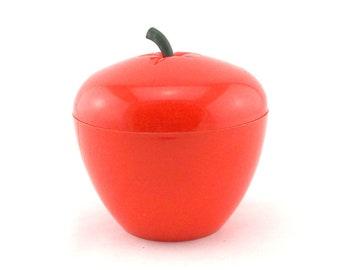 Vintage 70s Orange Apple Ice Bucket
