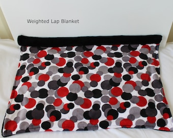 Weighted lap blanket for anxiety ~ Suitable for work , school or home. ~ Sensory lap pad calms stress and aids relaxation. ~ Travel size.
