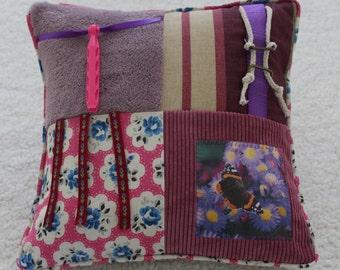 Fidget Cushion ~ Sensory Activity Pillow ~ Dementia Twiddle Cushion ~ Alzheimer Gift ~ Busy Cushion ~ 'Butterfly Magic'