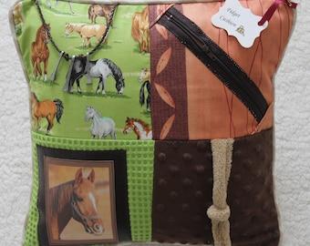 Alzheimer's Horse Fidget Cushion ~ Sensory Activity Pillow ~ Dementia Twiddle Cushion ~ Alzheimer Gift ~ Busy Cushion ~ 'Beautiful Horses'
