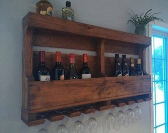 Double wall wine rack