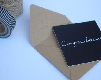Mini Notecard - Congratulations Card, Modern Greeting Card