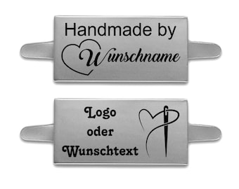 Metal Label -personalized -Silver- 40x20