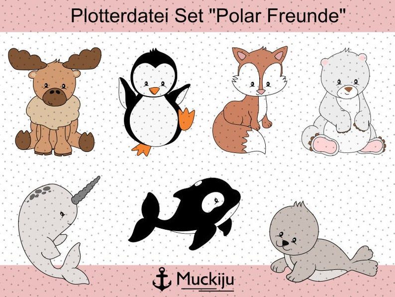Plotterfile set Polar Friends