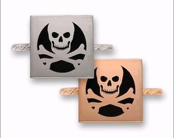 Metal Label Skull 30 x 30 mm