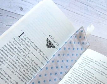 Polka Dot Bookmark - Bookmark - Fabric Bookmark – Teacher Gift – Party Favour – Bookworm Gift – Book Lover Gift – Stocking Filler