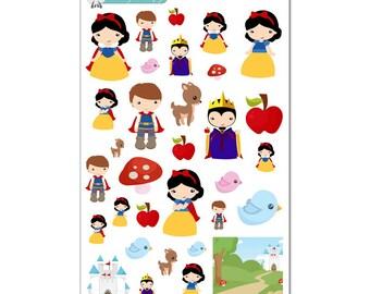 Snow White Stickers - Disney Planner Stickers