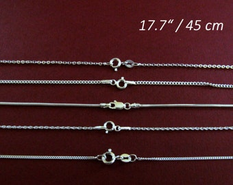 "Chain 17.7"" 925 Sterling Silver to use with pendant or for only single"