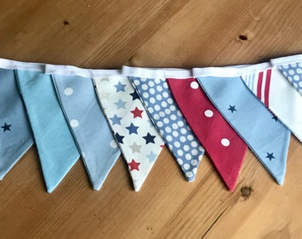 Multi Print Blue/Red Bunting