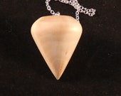 Wooden Dowsing Pendulum English Holly Wood handturned in Devon with your choice of crystal bead