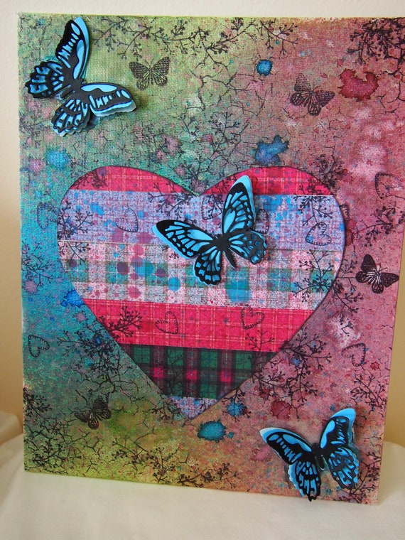 Mixed Media Canvas Art Canvas Mixed Media Art Canvas Art Etsy