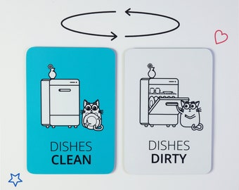 Clean dirty dishwasher magnet | Funny dish washer reminder