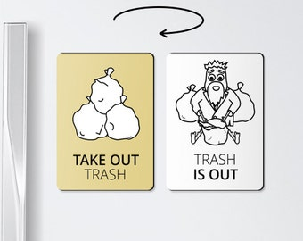 Funny magnet - TAKE OUT TRASH - chore magnets, chore board magnet, trash can, funny magnets, trash, chore magnet, roommate gift
