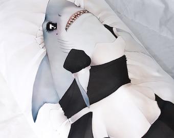Sexy Shark Dakimakura Body Hug Pillow Case - Double sided