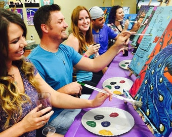 """Host-A-Party Kit - DIY """"Paint & Sip"""" Event - Customizable Home Events! FREE SHIPPING!"""