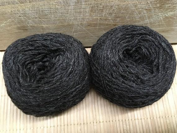 GRETA Gotland/Shetland/alpaca blend black yarn 100g balls DK ply S18/19