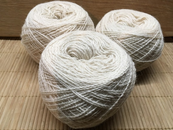 ELIJAH Gotland/TeeswaterX/alpaca blend light cream yarn 100g ball 2 ply S20