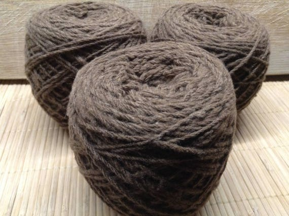 CINDY Corriedale mid brown yarn 100g balls DK ply S17